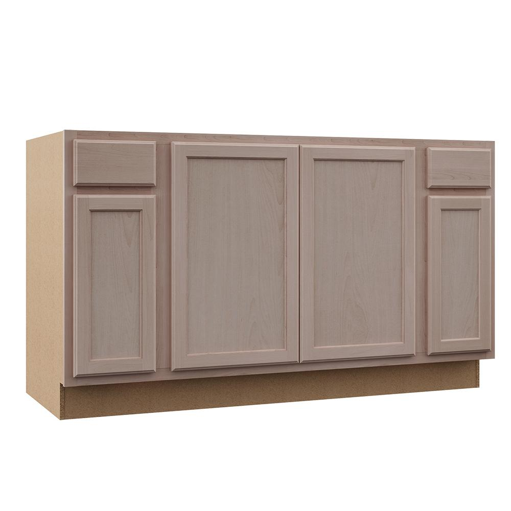 unfinished base kitchen cabinets bar height table sets assembled 60x34 5x24 in sink cabinet store sku 1002751991 beech