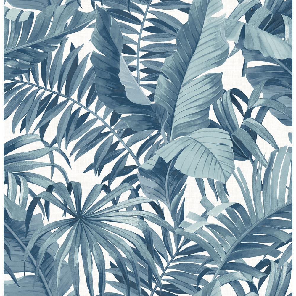 alfresco navy palm leaf