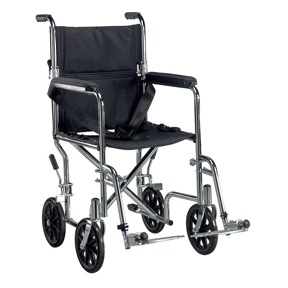 transport wheel chair high back office slip covers drive go cart wheelchair with swing away footrest and 19 in seat