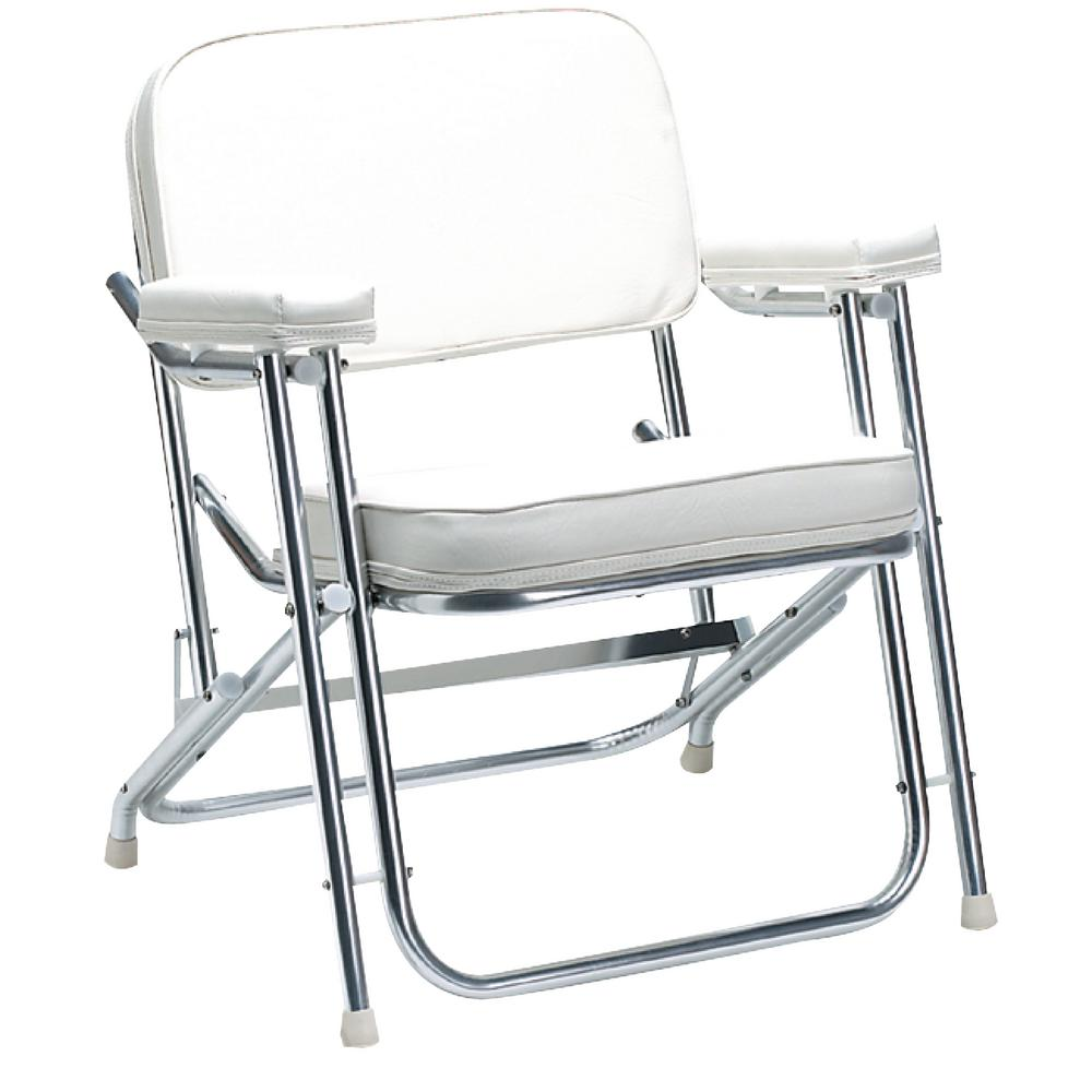boat chairs folding deck turquoise desk chair uk seachoice white 78501 the home depot