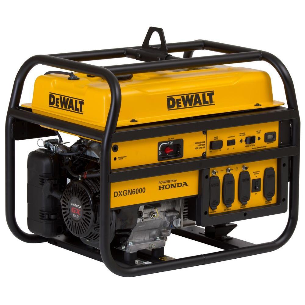 medium resolution of dewalt 5300 watt gasoline powered manual start portable generator rh homedepot com de walt dg6000 manual