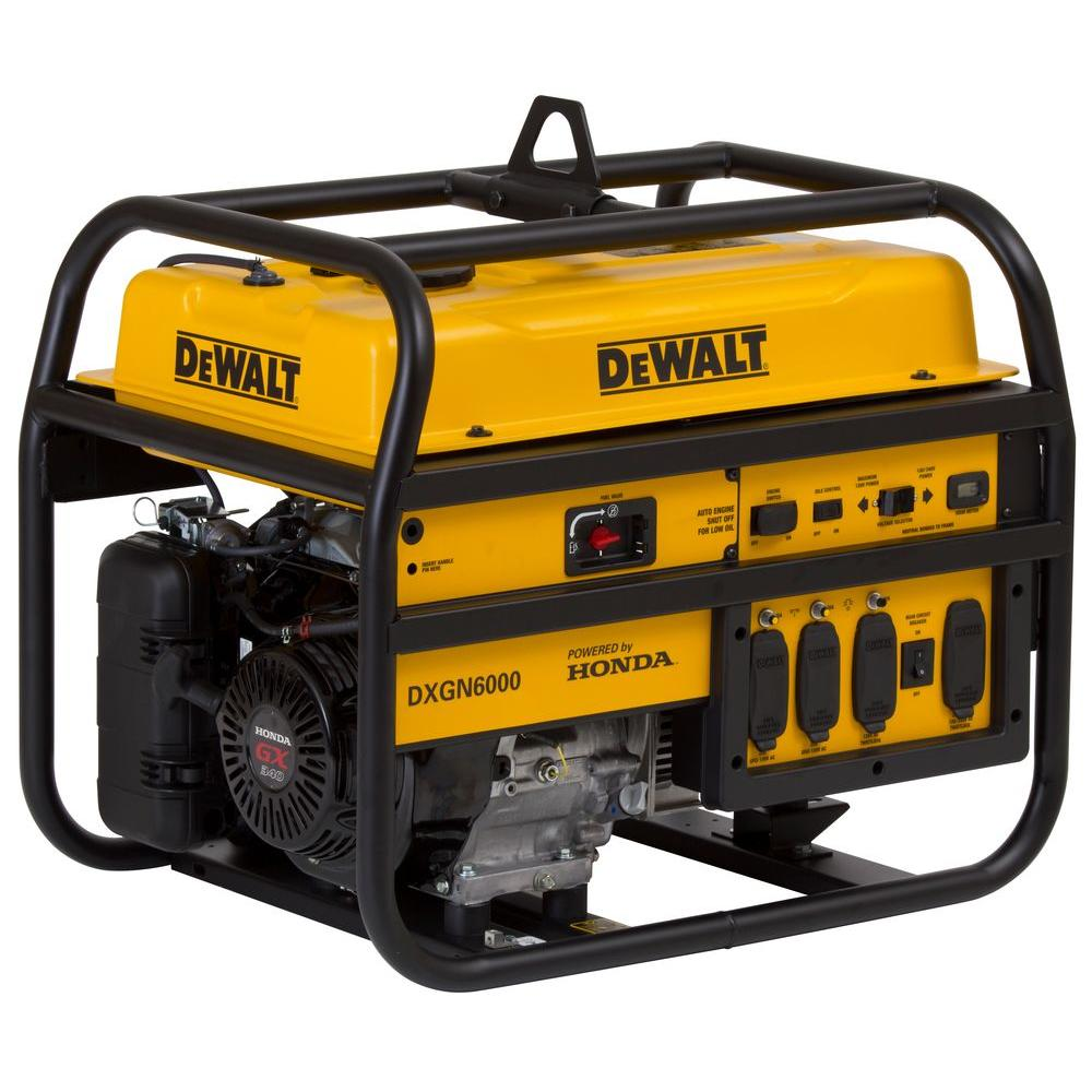 hight resolution of dewalt 5300 watt gasoline powered manual start portable generator rh homedepot com de walt dg6000 manual
