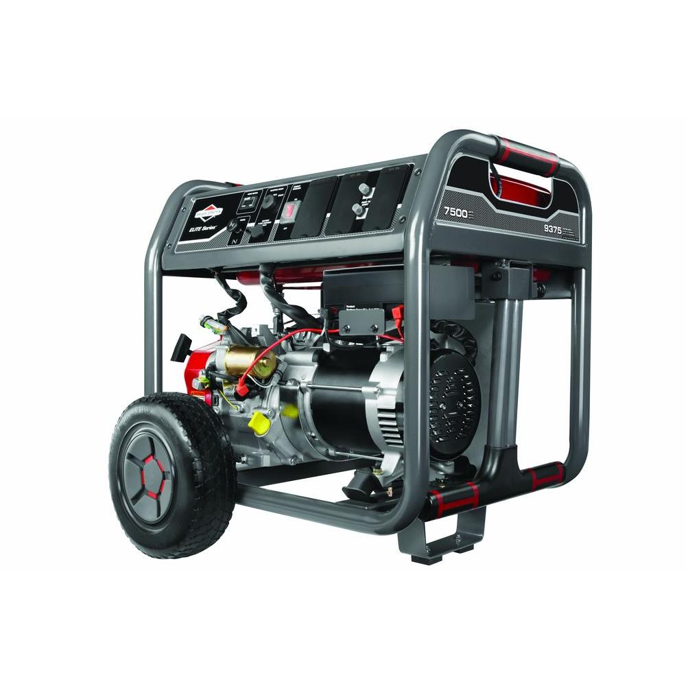 hight resolution of 7 500 watt gasoline powered portable generator with briggs engine