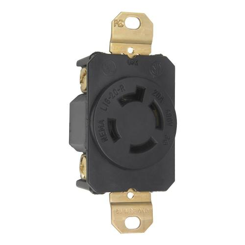 small resolution of turnlok 20 amp 480 volt locking receptacle black