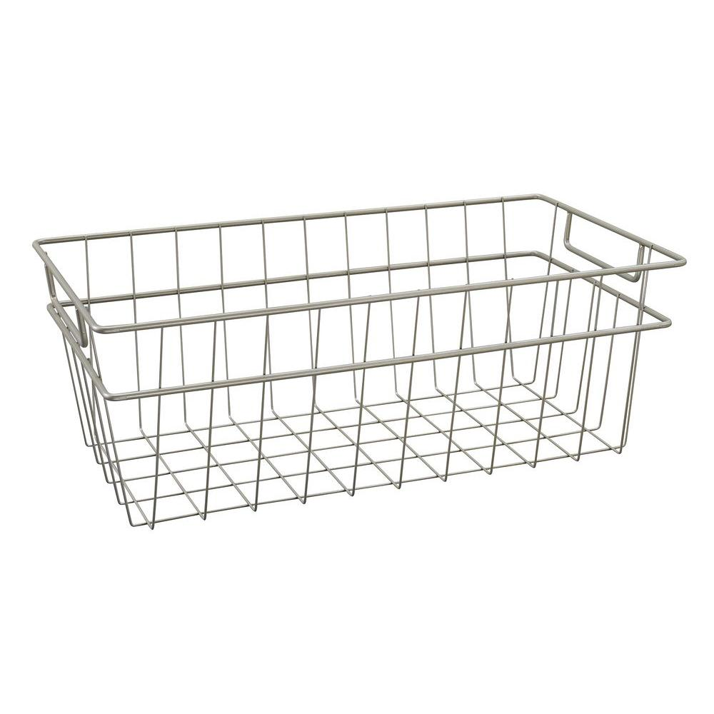 ClosetMaid 8.5 in. x 7.5 in. Large Wire Basket in Nickel