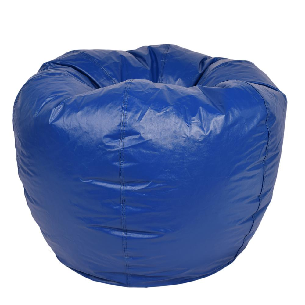 Bean Bags Chair Ace Casual Furniture Blue Vinyl Bean Bag