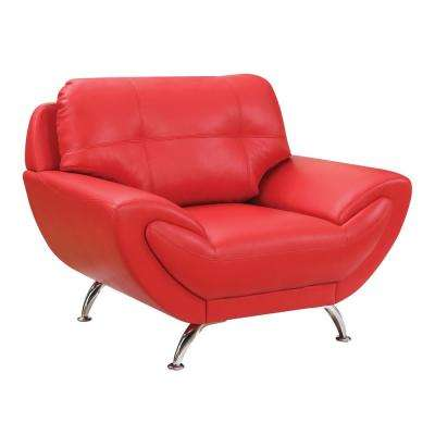 red living room set decorative wall clocks for sets furniture the home depot reanna contemporary style chair