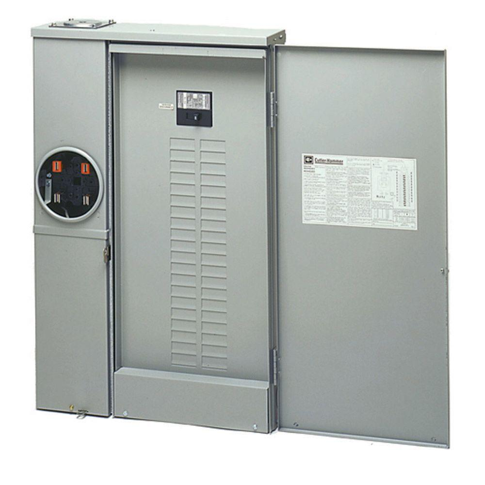 cutler kitchen and bath cabinets painted eaton 200 amp 40-space 40-circuit combination meter box ...