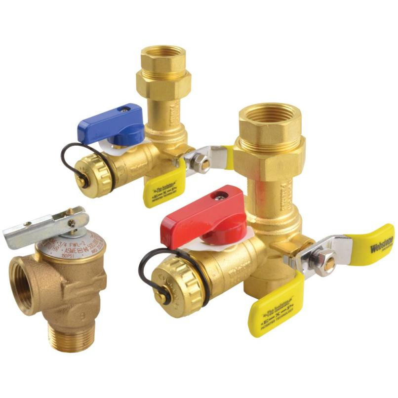 Isolation Valve Kit Rinnai Pressure Relief For Tankless Water Heater Webstone