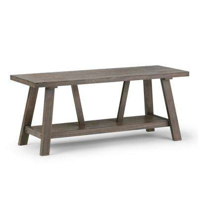 steve silver dylan sofa table chesterfield fabric bed rustic simpli home entryway furniture the depot driftwood finish bench