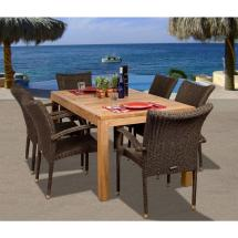 Brussels 7-piece Teak -weather Wicker Patio