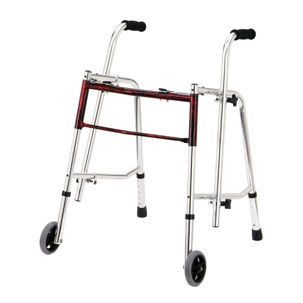 Drive 4-Wheel Rollator Walker with Fold Up Removable Back