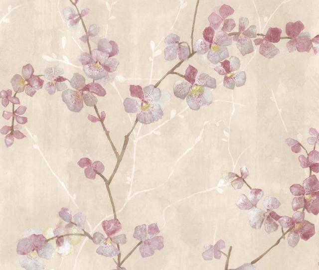 Chapman Pink Cherry Blossom Trail Wallpaper