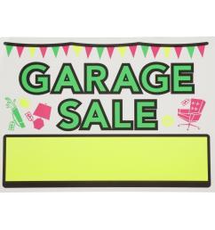 vinyl garage sale sign [ 1000 x 1000 Pixel ]