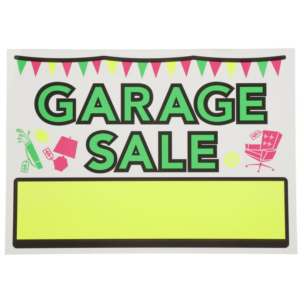 medium resolution of vinyl garage sale sign