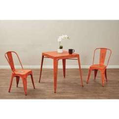 Orange Kitchen Chairs Remodeling Birmingham Al Rustic Pick Up Today Dining Bristow Antique Metal Side Chair Set Of 2