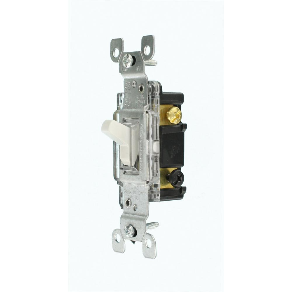 hight resolution of leviton 15 amp residential grade 3 way lighted toggle switch white