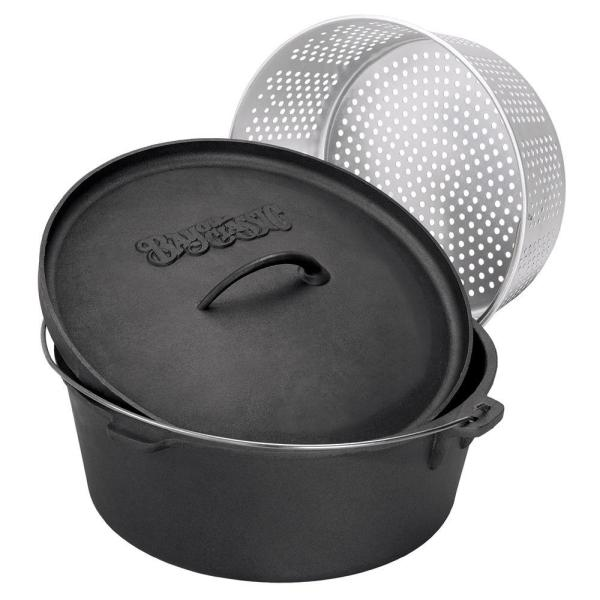 Bayou Classic 16 Qt. Cast Iron Dutch Oven-7416 - Home Depot