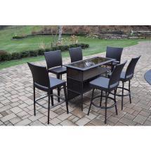 Elite 7-piece Wicker Outdoor Bar Height Dining Set