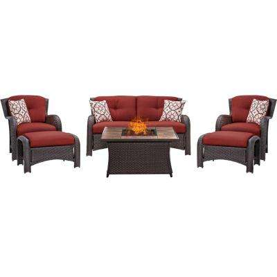couch and chair set chairs for dining room fire pit sets outdoor lounge furniture the home depot strathmere