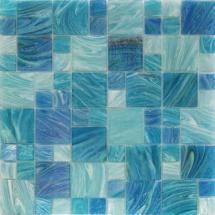 Splashback Tile Aqua Blue Sky French Pattern 11.62 In. X