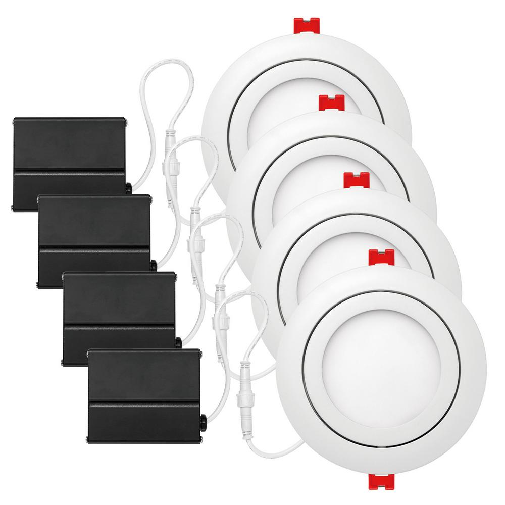 hight resolution of white integrated led recessed kit 4 pack