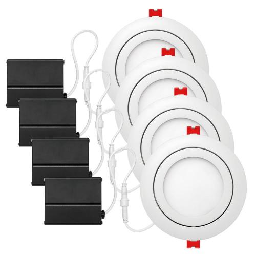 small resolution of white integrated led recessed kit 4 pack