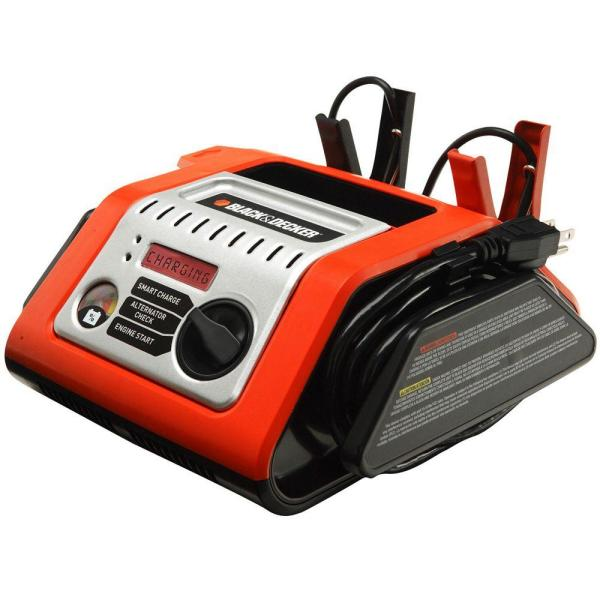 Black Decker 25-amp Simple Battery Charger With 75-amp Engine Start-bcs25eb - Home Depot