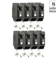 q line 20 amp single pole arc fault combination circuit breaker 8 pack [ 1000 x 1000 Pixel ]