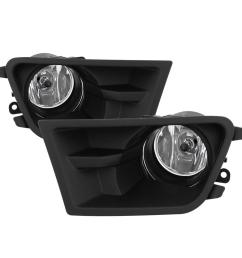 ford mustang v6 2010 2012 3 7l 4 0l fog light with universal switch clear write a review [ 1000 x 1000 Pixel ]
