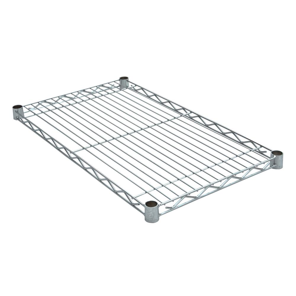Excel 36 in. W x 14 in. D Individual NSF Wire shelf Chrome