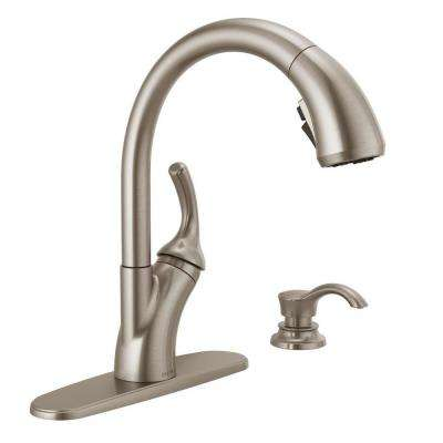 kitchen faucets with sprayer cabinet faces pull out the home depot shiloh single handle faucet shieldspray in spotshield stainless
