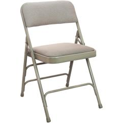 Folding Fabric Chairs Lightweight Beach Advantage 1 In Beige Seat Padded Metal Chair 4 Pack
