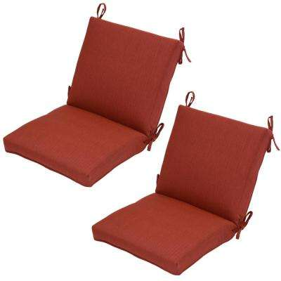chair cushions outdoor minnie mouse folding chili texture solid mid back dining cushion pack of 2