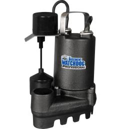 1 2 hp cast iron submersible sump pump with vertical switch [ 1000 x 1000 Pixel ]