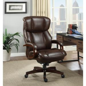 la z boy trafford big and tall executive office chair vino electric scooter tafford bonded leather 45782 fairmont biscuit brown