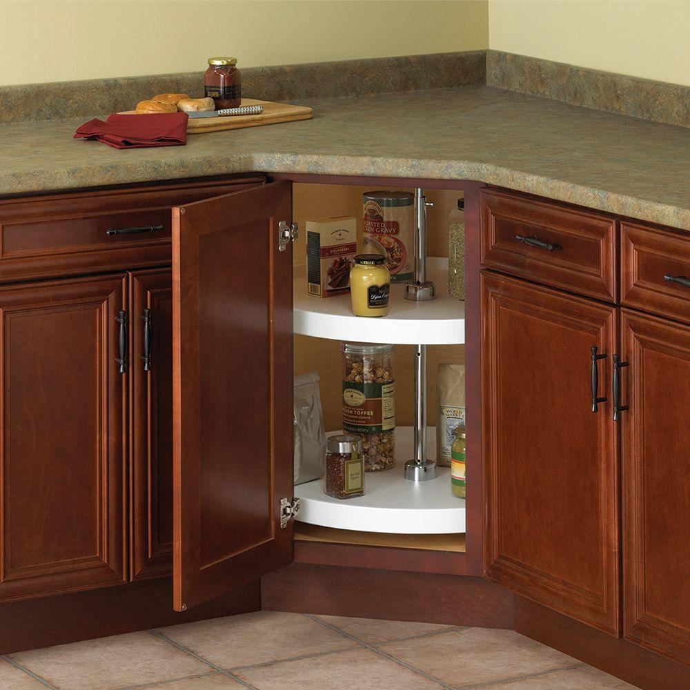 kitchen lazy susan stores knape vogt 32 in h x 28 w d 2 shelf full round this review is from 24 white polymer cabinet organizer