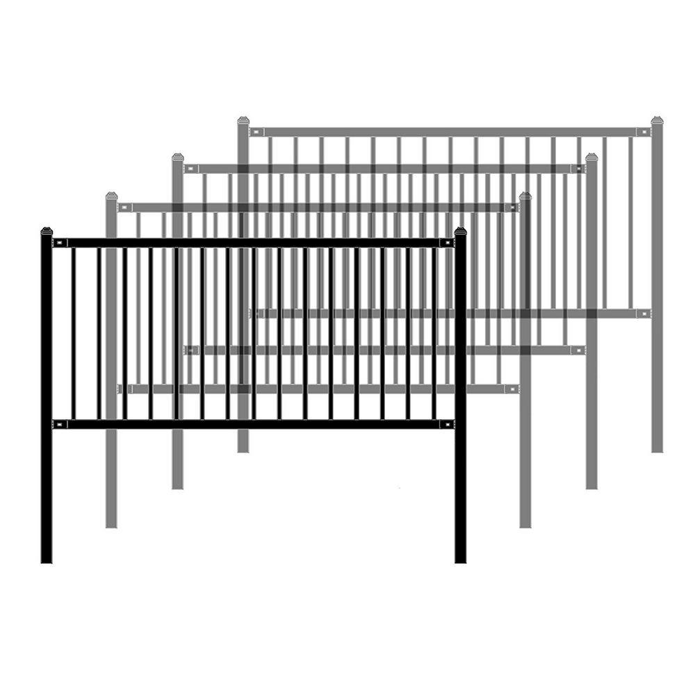 ALEKO Lyon Style 3 ft. x 6 ft. Black Steel Unassembled