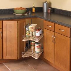 Kitchen Lazy Susan White Floors Knape Vogt 30 In X 28 88 Kidney Shaped Drawer System