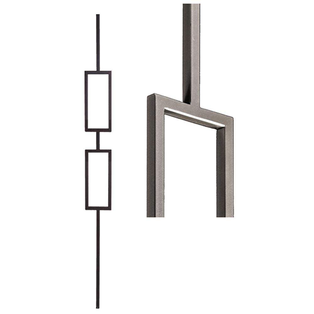 House Of Forgings Aalto Modern 44 In X 5 In Ash Grey Double   House Of Forgings Balusters   Wentworth   Hand Forged   Custom   Versatile Series   Marquise