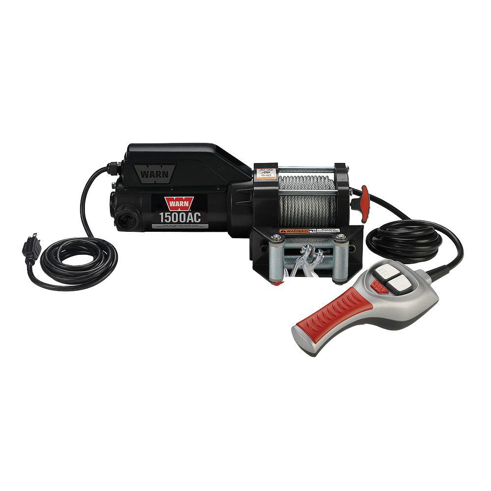 hight resolution of warn 1500 lbs 120 volt ac utility winch