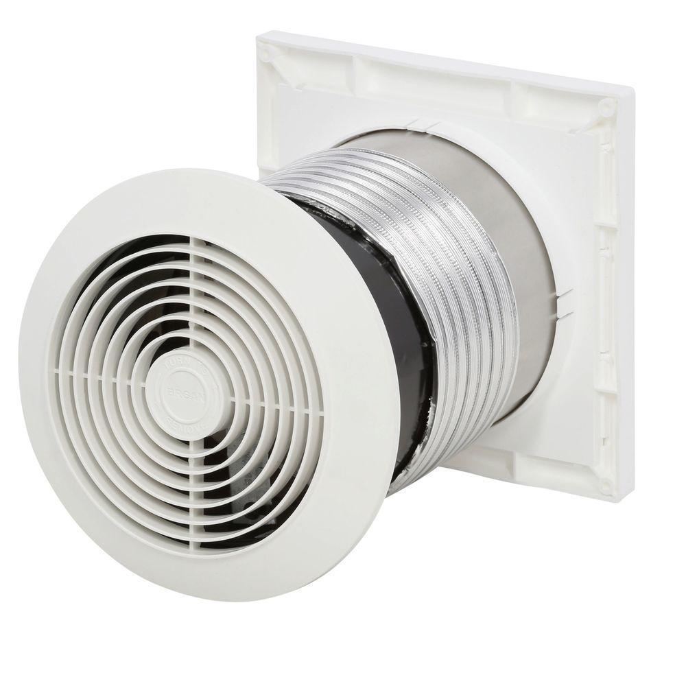 Exhaust Fan Ventilator 70 CFM Bathroom Wall Surface Mount