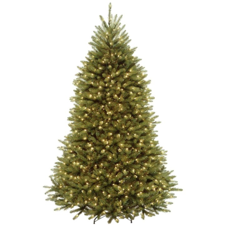 Dunhill Fir Artificial Christmas Tree with Clear Lights