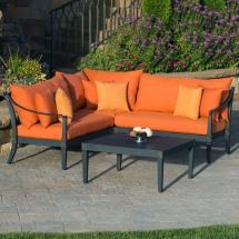 Orange Patio Furniture Set