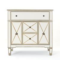 Noble House Fergus Gold Faux Wood Accent Cabinet with ...