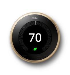 nest smart learning wi fi programmable thermostat 3rd gen brass [ 1000 x 1000 Pixel ]