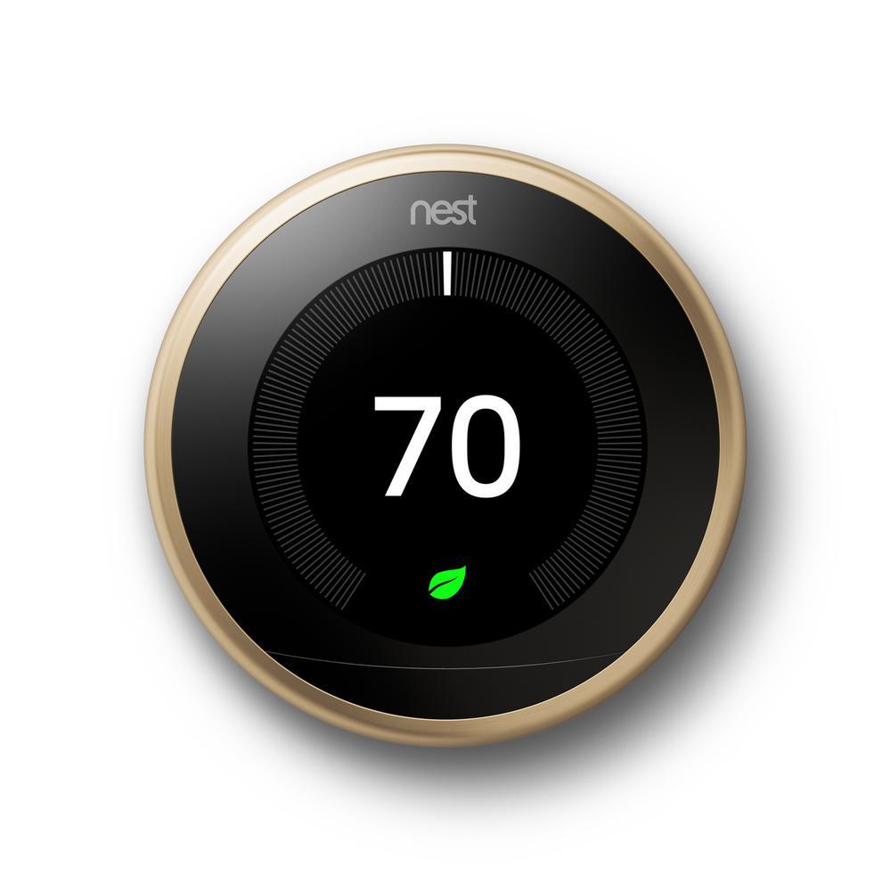 medium resolution of nest smart learning wi fi programmable thermostat 3rd gen brass