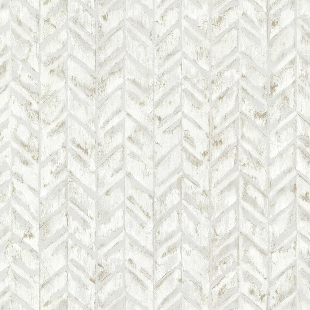 Brewster Ivory Foothills Herringbone Texture Wallpaper