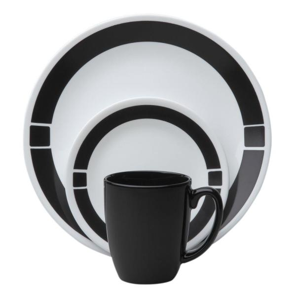 Black and White Corelle Dinnerware Set