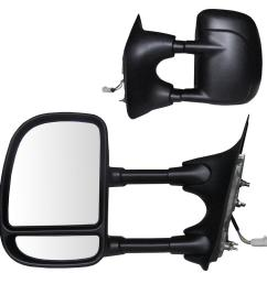 fit system towing mirror for 99 00 ford f250 f350 f450 f550 [ 1000 x 1000 Pixel ]